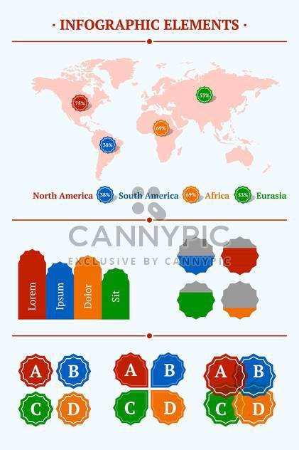 Vector set of elements of Infographics - Free vector #128535