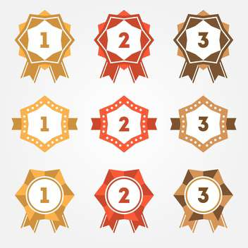 Set of vector retro ranking badges - Free vector #128645