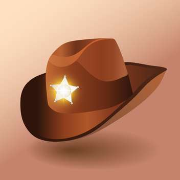 Vector illustration of sheriff's leather hat - vector gratuit #128655