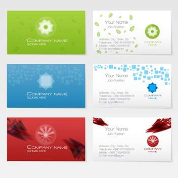 Vector three business card set - vector #128665 gratis