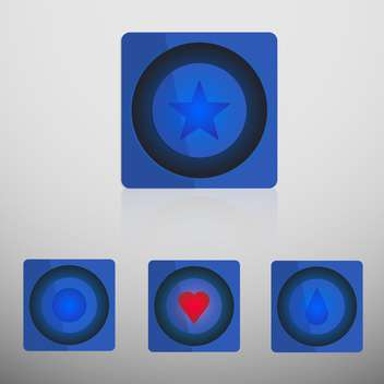 Simple vector internet buttons on grey background - vector #128695 gratis