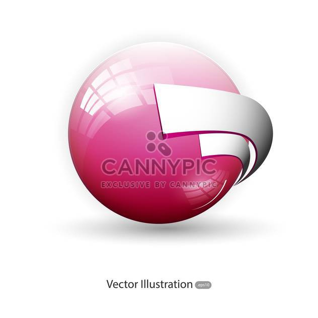 Vector background with glossy pink sphere. - Free vector #128745
