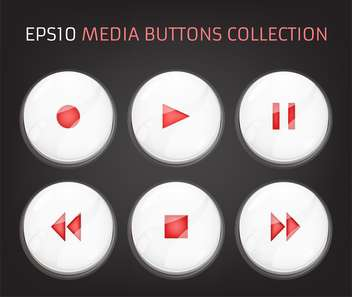 Vector buttons of audio player - бесплатный vector #128755