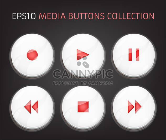 Vector buttons of audio player - Free vector #128755