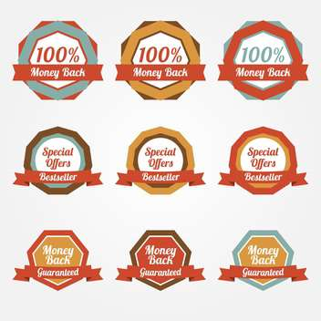 Set of vector sale stickers, badges, labels - vector gratuit #128805
