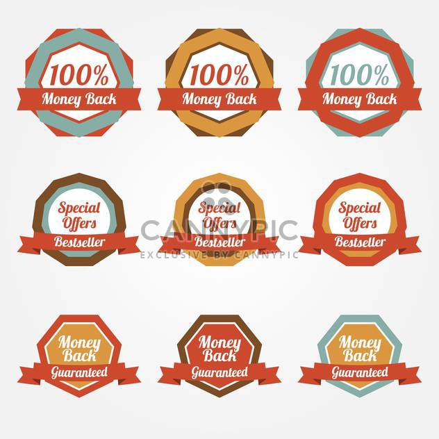 Set of vector sale stickers, badges, labels - Free vector #128805