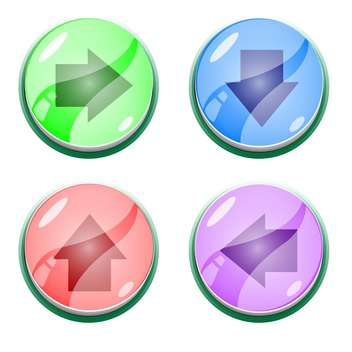 Vector set of colorful arrow buttons - vector gratuit #128825