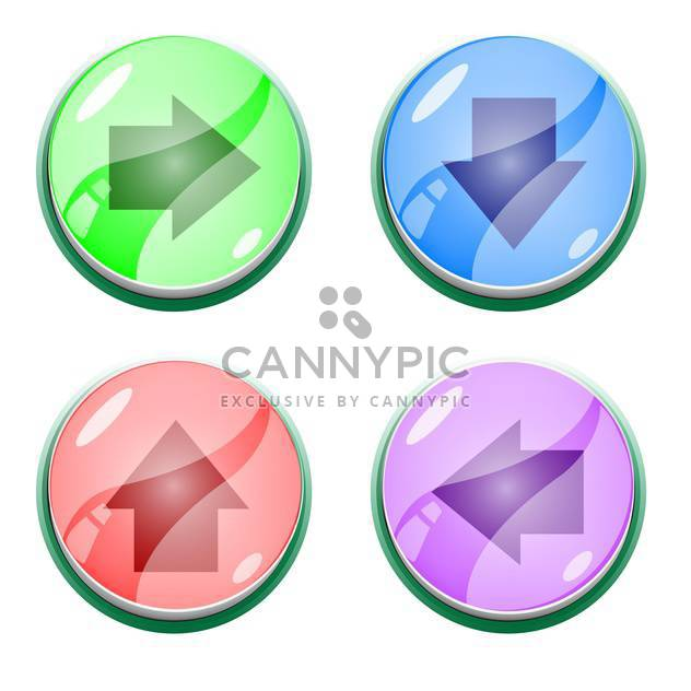 Vector set of colorful arrow buttons - Free vector #128825