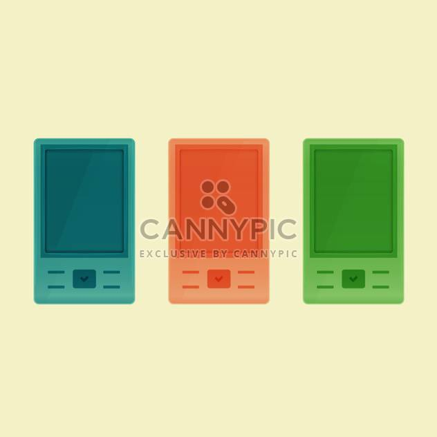 Vector set of colorful smartphones - Free vector #128835