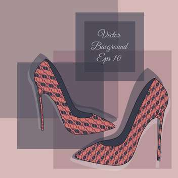 Vector background with fashion shoes - Free vector #128895