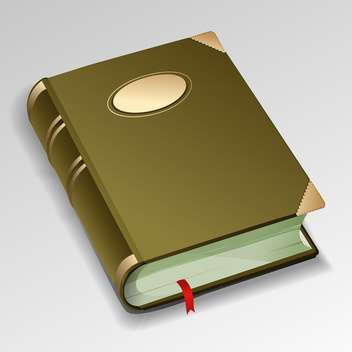 old vector book with bookmark - vector gratuit #128985