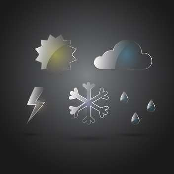 weather forecast icons background - Free vector #129015