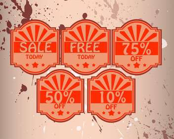 set of vector shopping sale labels - vector gratuit #129035