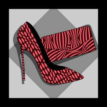 fashion female heel and purse - Free vector #129045