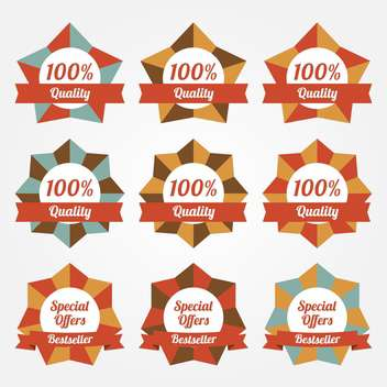 set of vector sale labels and badges - vector gratuit #129115