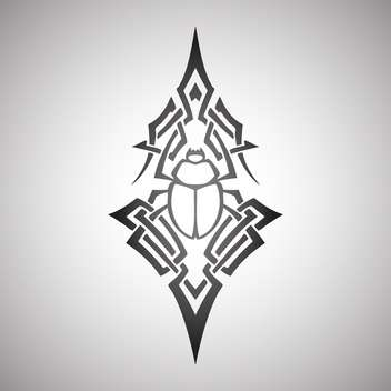 scarab beetle tribal vector illustration - vector #129135 gratis