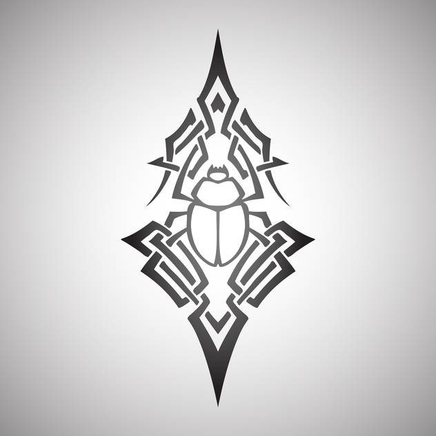scarab beetle tribal vector illustration - vector gratuit #129135