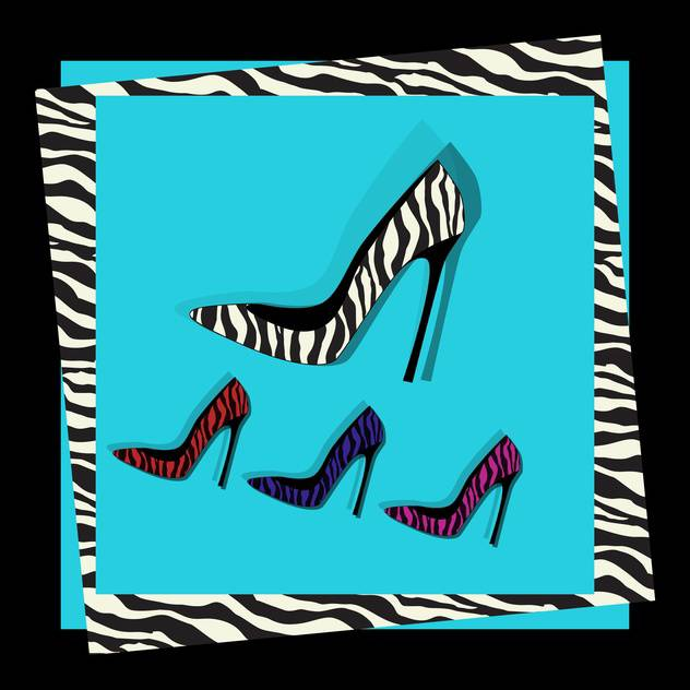 fashion female shoes set - Free vector #129145