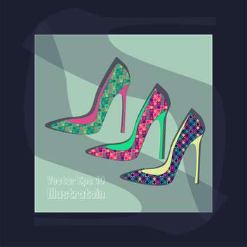 fashion female shoes set - vector #129155 gratis