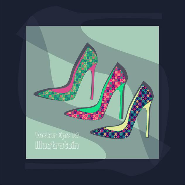 fashion female shoes set - Free vector #129155