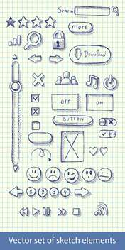 hand drawn web icons - vector #129165 gratis