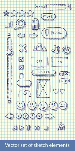hand drawn web icons - vector gratuit #129165