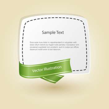 vector blank banner with ribbon - vector gratuit #129195