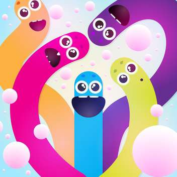 funny colorful worms texture - Free vector #129235