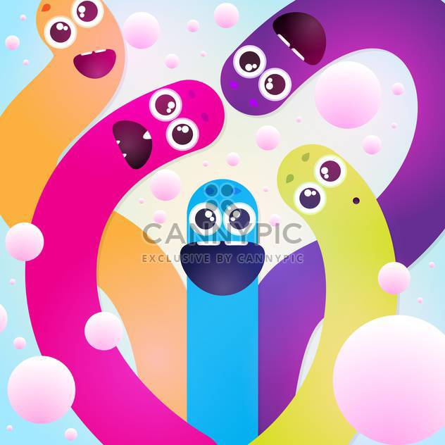 funny colorful worms texture - vector gratuit #129235