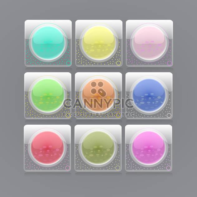 web glossy buttons vector illustration - Free vector #129275