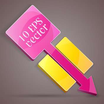 Vector illustration of colorful arrow banner - Free vector #129285