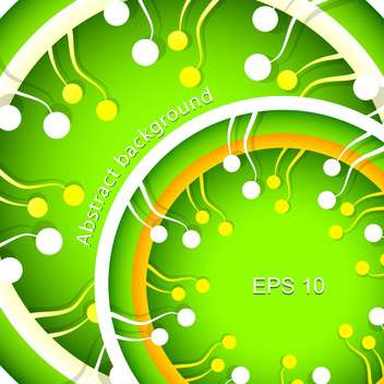 Vector abstract green spring background - vector gratuit #129325