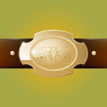 Vector cowboy belt buckle on green background - vector #129405 gratis