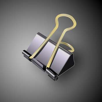 Vector illustration of black binder clip - бесплатный vector #129435