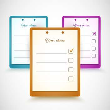 Vector illustration of colorful application forms - Free vector #129445
