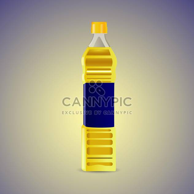 Vector illustration of vegetable oil in plastic bottle - Free vector #129515