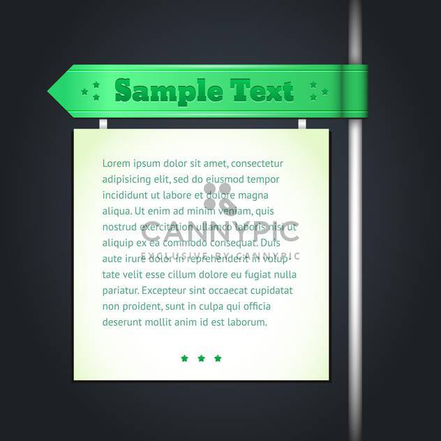 Vector banner with pillar on black background - Free vector #129615