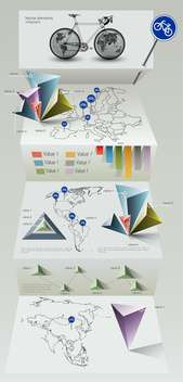 Vector paper origami infographic elements - vector #129725 gratis