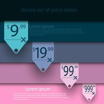 Vector set of sale labels on background with stripes - Kostenloses vector #129735