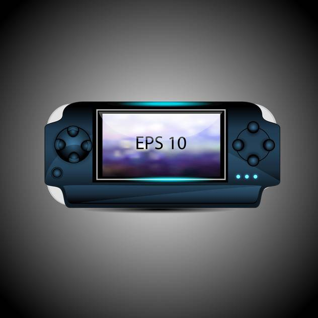 vector illustration of portable game pad on gray background - бесплатный vector #129755