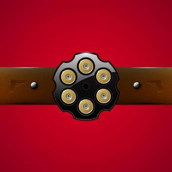 Vector gangster belt buckle on red background - vector #129785 gratis