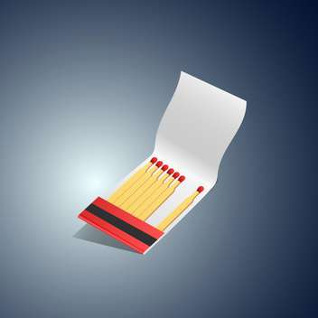 Vector illustration of matches book on dark background - vector gratuit #129855