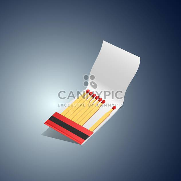 Vector illustration of matches book on dark background - Free vector #129855