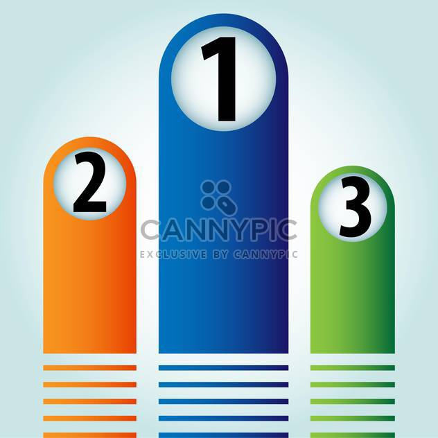 Vector colorful banners with numbers on blue background - Free vector #129865