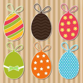Vector set of bright colorful Easter eggs - vector gratuit #129885