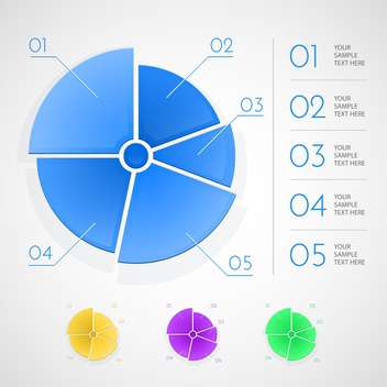 Infographic vector business charts and elements - Free vector #129935