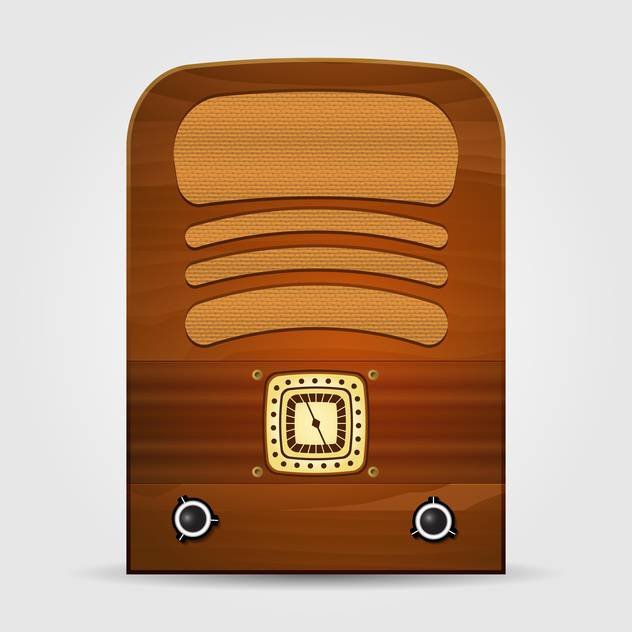 Vector illustration of retro radio isolated - бесплатный vector #130035