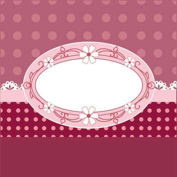 Vintage vector frame with flowers - vector gratuit #130055