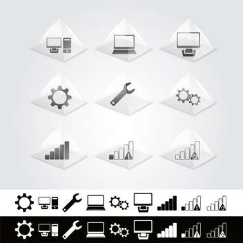 Vector set of web icons - vector gratuit #130125