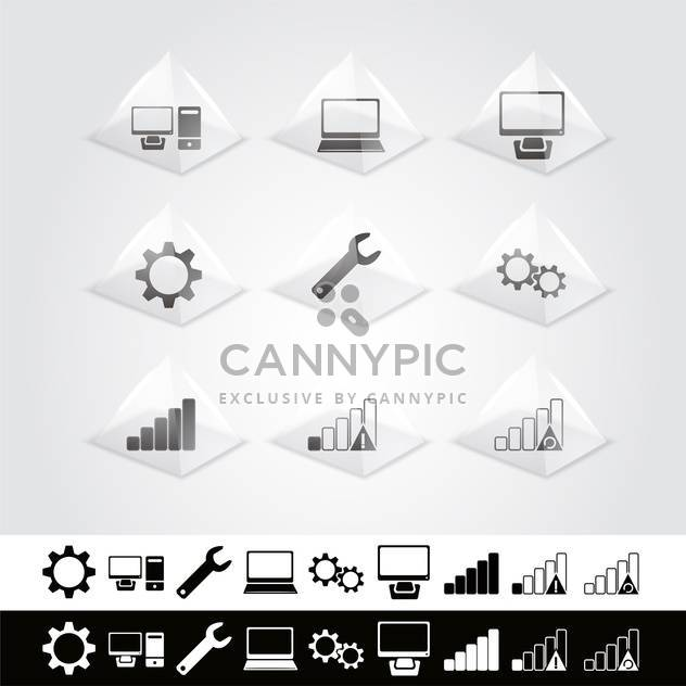 Vector set of web icons - Free vector #130125